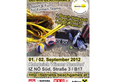 Betriebs-BEACHGAMES - Plakat & Flyer