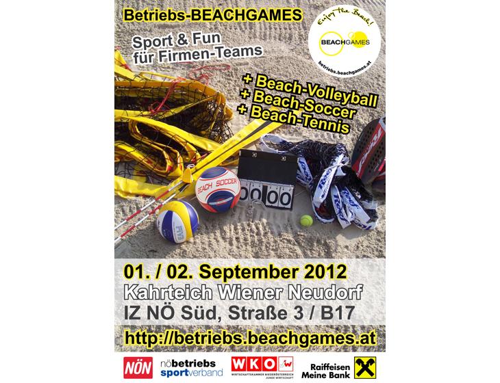 Betriebs-BEACHGAMES - Plakat & Flyer
