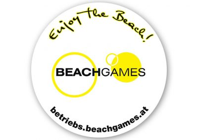Betriebs-BEACHGAMES - Schild
