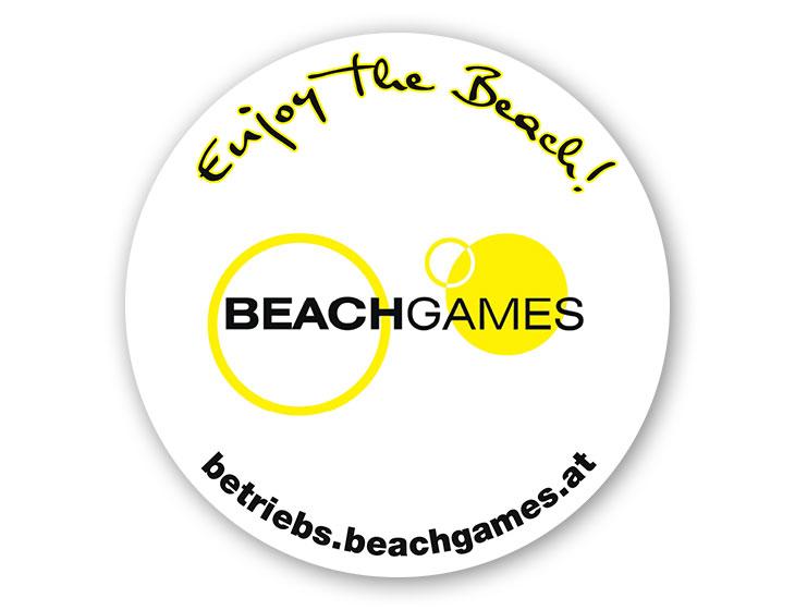 Betriebs-BEACHGAMES - Schild