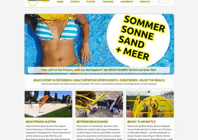 BEACHGAMES - Website