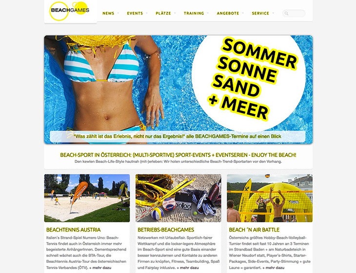 BEACHGAMES - Website