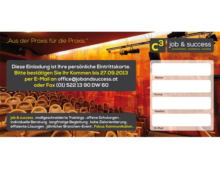 C3 job & success - Event-Flyer