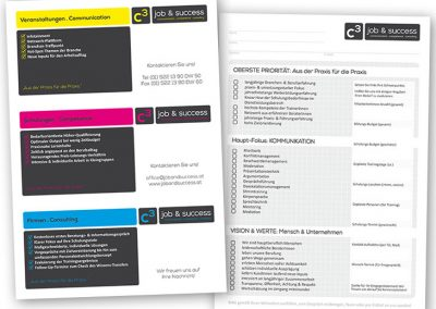 C3 job & success - Info-Blatt, Check-List