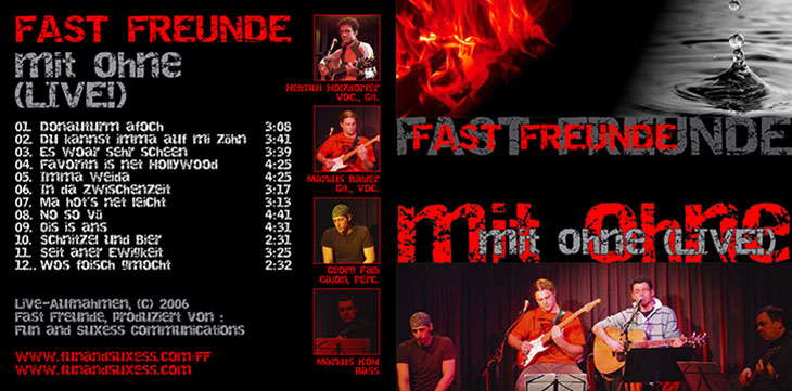 Fast Freunde - Branding, Typographie, CD-Cover (2006)