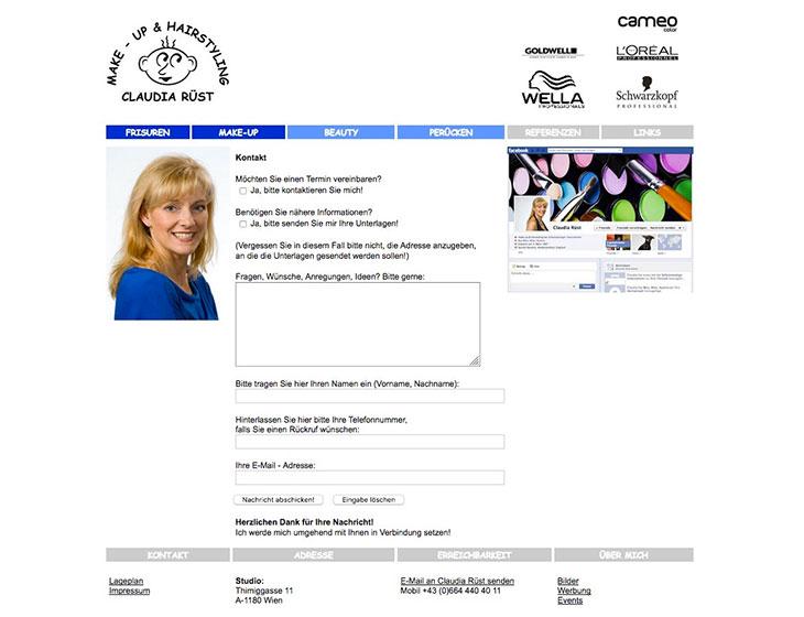 Make-Up & Hair-Styling - Website, Werbung, Visitenkarten (seit 2003)