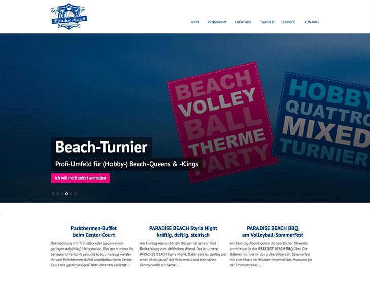Paradise Beach - Branding, Logo-Entwicklung, Website, Folder, Drucksorten (2013-2014)