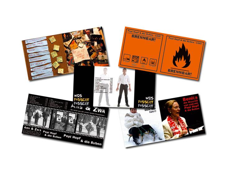 Pepi Hopf & die Buben - CD - Layouts