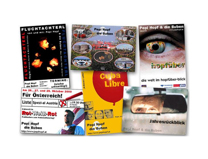 Pepi Hopf & die Buben - Postkarten - Layouts