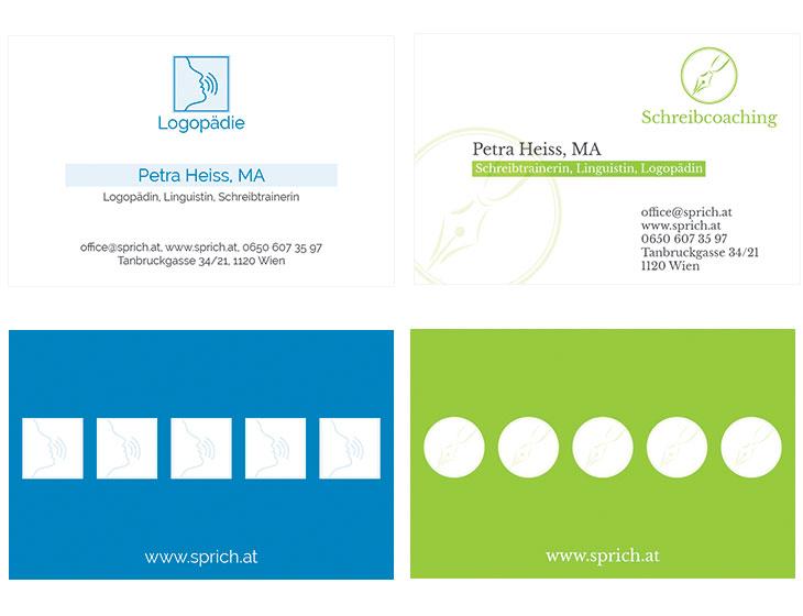 Praxis Heiss - Visitenkarten