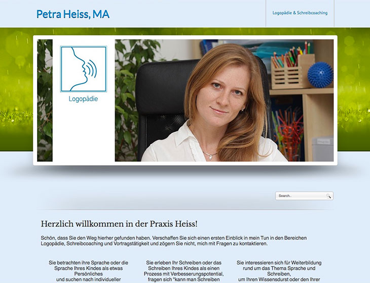 Praxis Heiss - Re-Branding, Vektor-Grafik, Website-Re-Launch, Visitenkarten (2017)