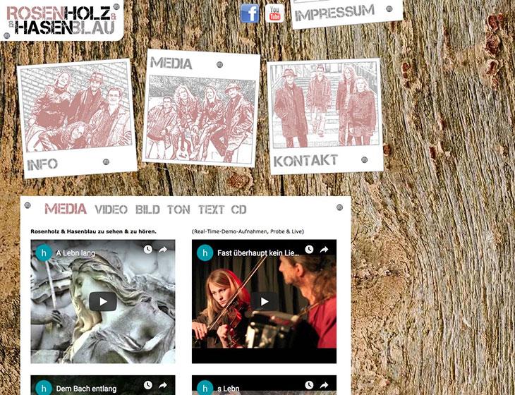 Rosenholz & Hasenblau - Website