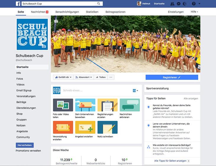 Schulbeach Cup - facebook-Fan-Page 2017