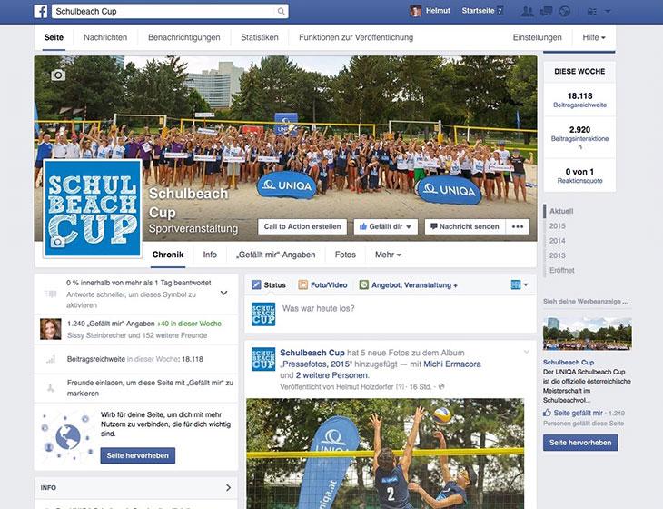 Schulbeach Cup - Event-Organisation, Österreich-Tour, Newsletter, Website, facebook-Fan-Page (seit 2009)