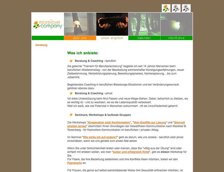 morelove company - Website (2007)